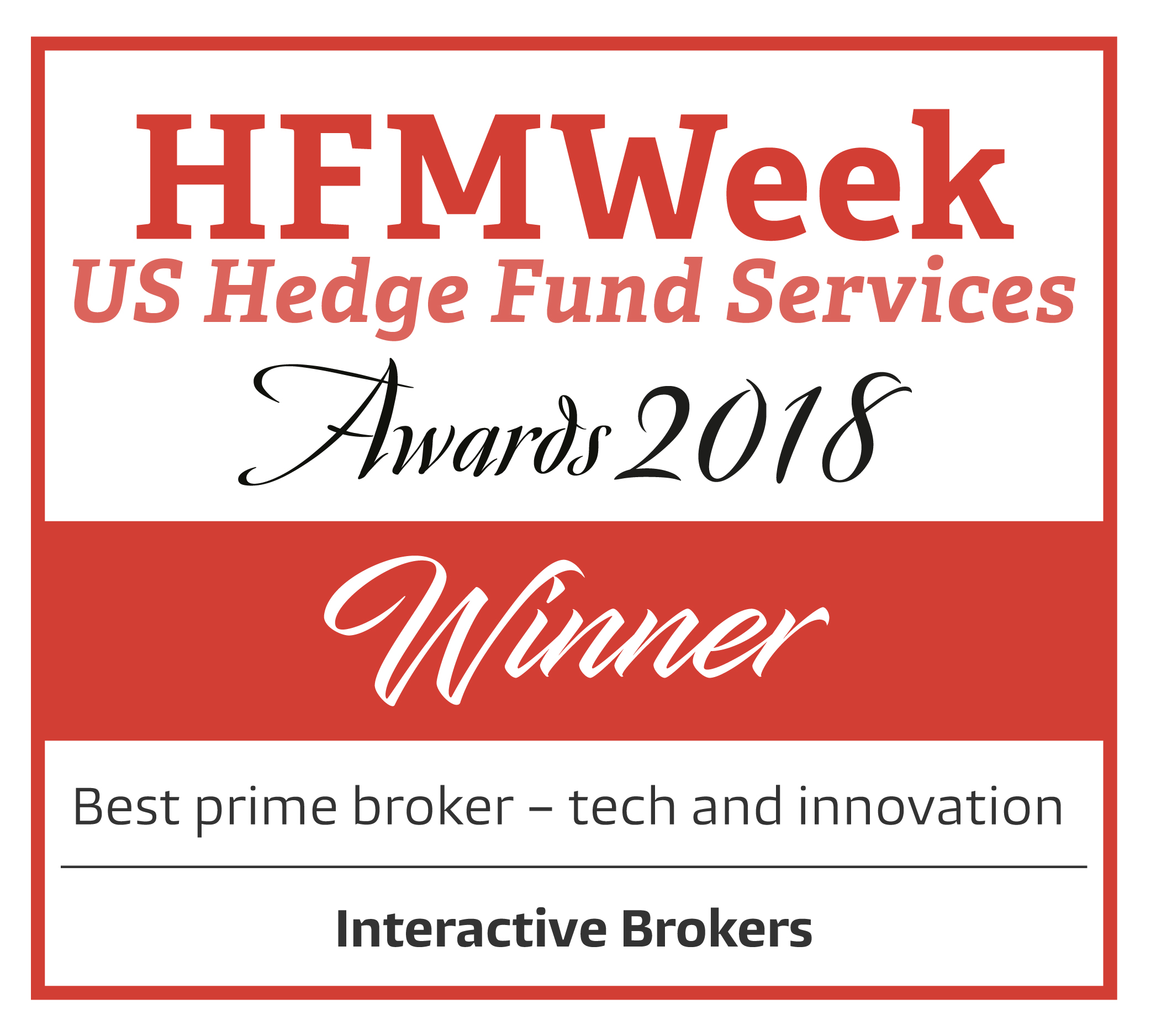 Winner 2018 - Best Prime Broker - Technology and Innovation
