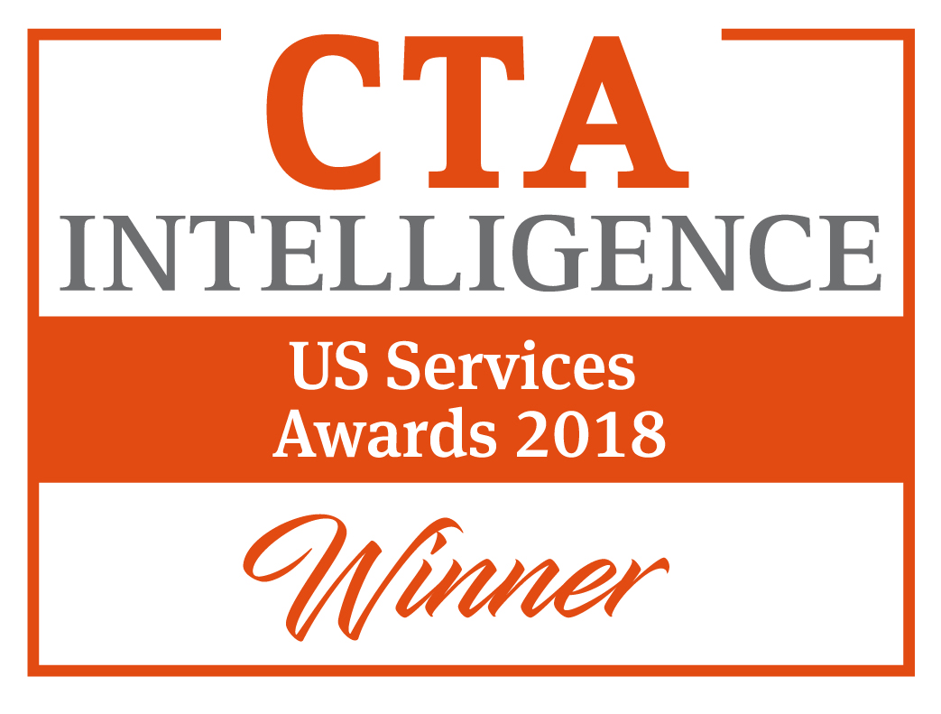 "Sieger 2018 CTA Intelligence US Services Award - ""Bester FCM - Technologie"""